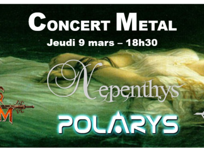 Billeterie Concert Metal - jeudi 9 mars - Le Klub
