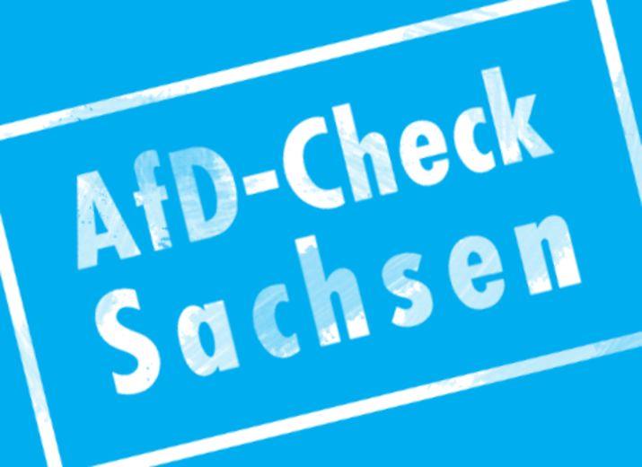 Werbung für AfD-Check Sachsen