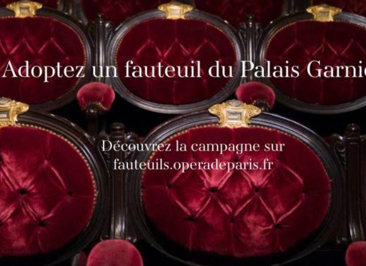 Adoptez un fauteuil à l'Opéra Garnier !