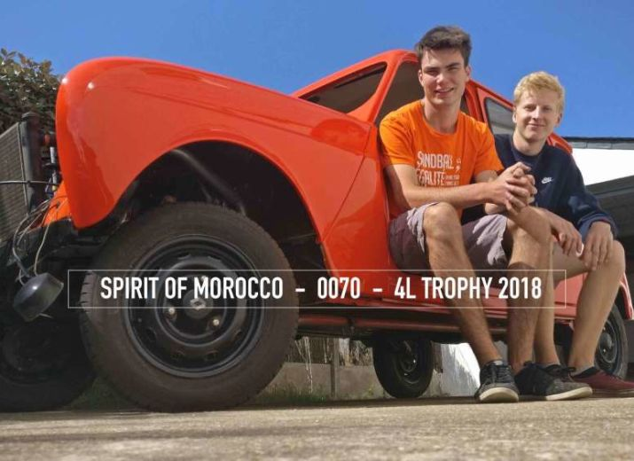 Équipage Spirit of Morocco - 4L Trophy 2018