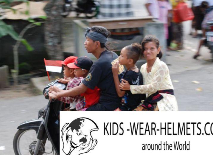 Wir verteilen Helme an Kinder auf der ganzen Welt. Unterstütze diese Projekt, um Kinder die benötigte Sicherheit beim Motoroller/Motorrad fahren zu ermöglichen!