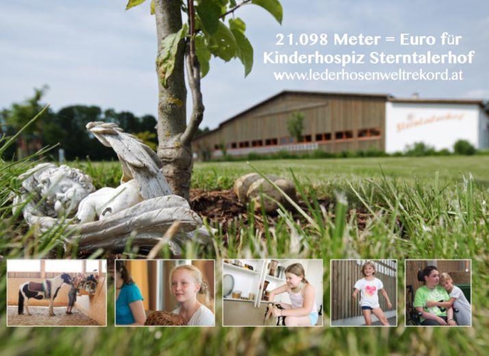 21.098 Meter = Euro für Kinderhospiz - Lederhosenweltrekord.at