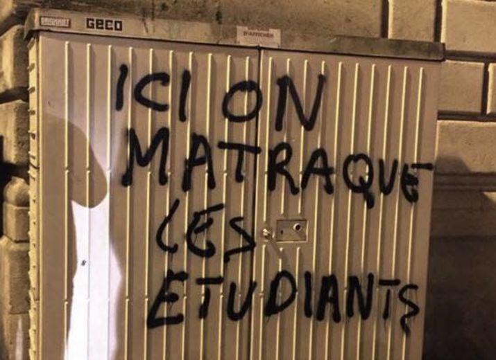 Solidarité contre la répression à l'Université de Bordeaux