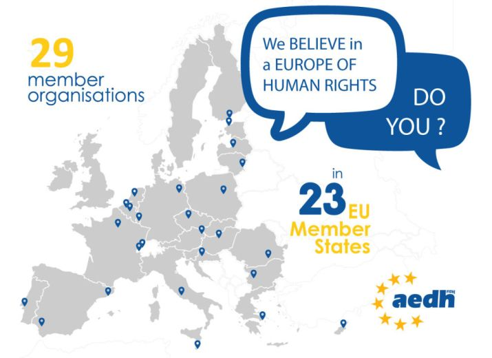 TOGETHER LET'S CREATE A EUROPE OF HUMAN RIGHTS!        ENSEMBLE, CRÉONS UNE EUROPE DES DROITS DE L'HOMME!