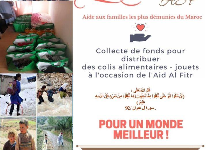 Collecte de fonds pour distribuer des colis alimentaires