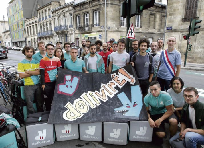 EUROPEAN DELIVERERS FROM DELIVEROO, UBEREATS, FOODORA... LET'S ORGANIZE! LIVREURS EUROPEENS A VELO DE DELIVEROO, UBEREATS, FOODORA… ORGANISONS NOUS !