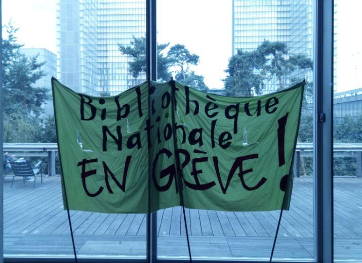 Soutien aux grévistes de la Bibliothèque nationale de France