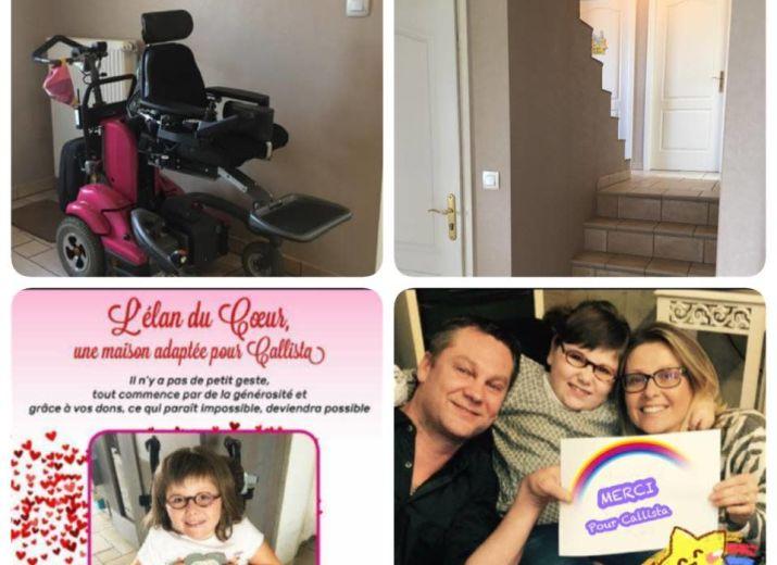 Une maison adaptée pour Callista : L'élan du Coeur