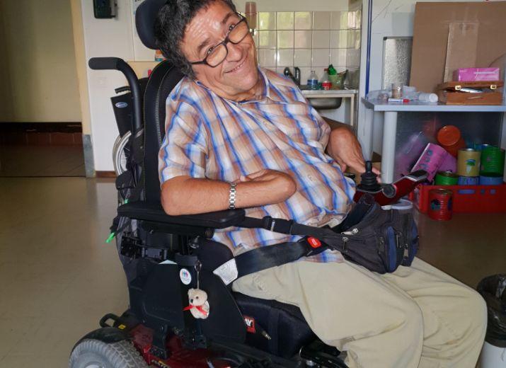 Le fauteuil électrique de Filou