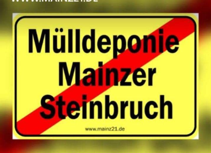 Keine Mülldeponie im Mainzer Steinbruch