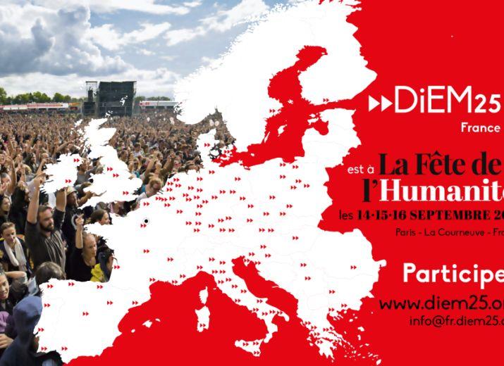 DiEM 25 France est à la Fête de l'Huma 2018
