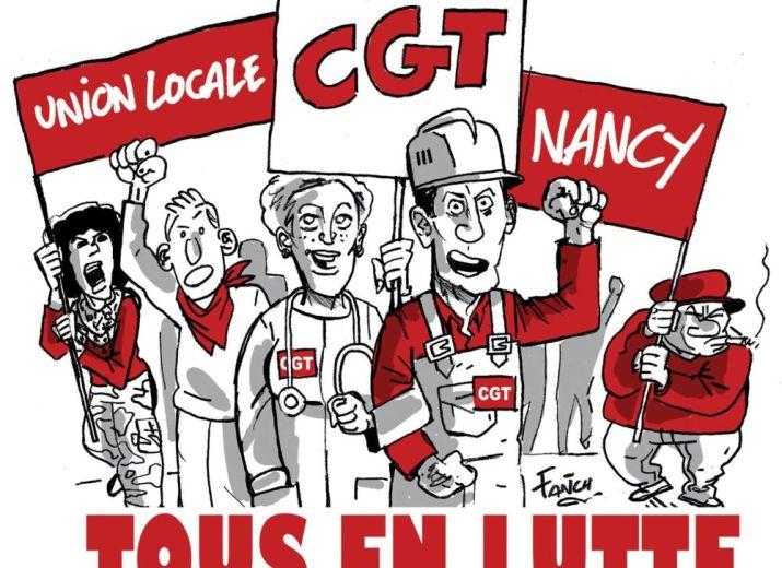 fond d'aide aux camarades réprimés de l'UL CGT de Nancy