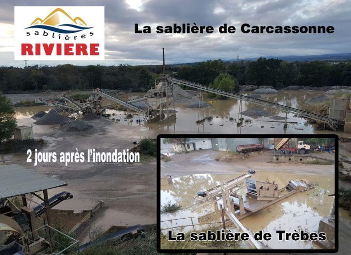 Soutien à l'Entreprise  Rivière  sinistrée à Trèbes