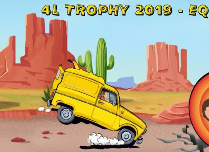 4L TROPHY 2019 - Equipage 1339 4Looney Tunes