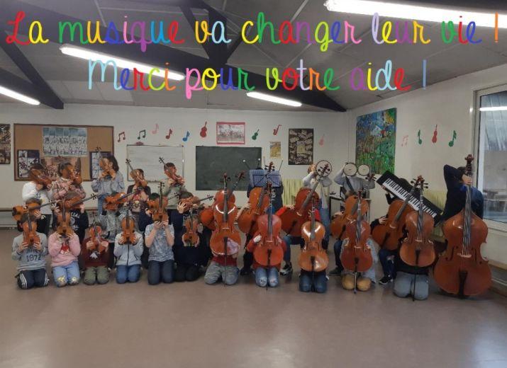 Pour la création d'un orchestre à l'école!