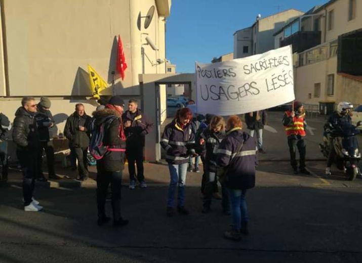 Soutient aux postiers de Montpellier Rondelet en grève