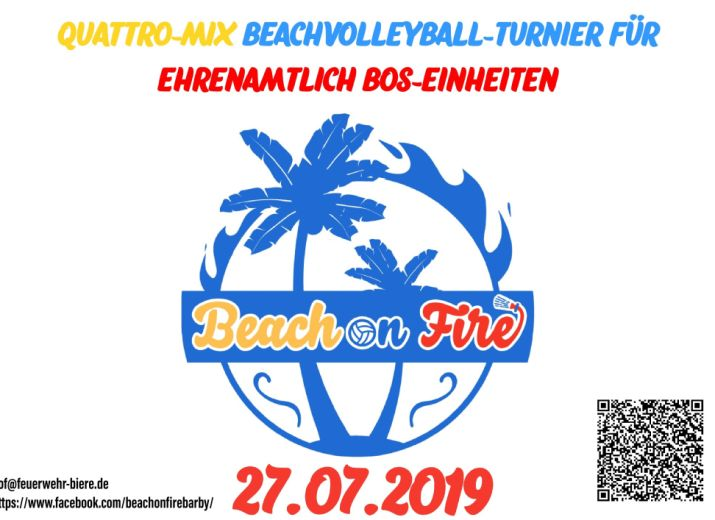Beach On Fire - Quattro-Mix Beachvolleyball Turnier