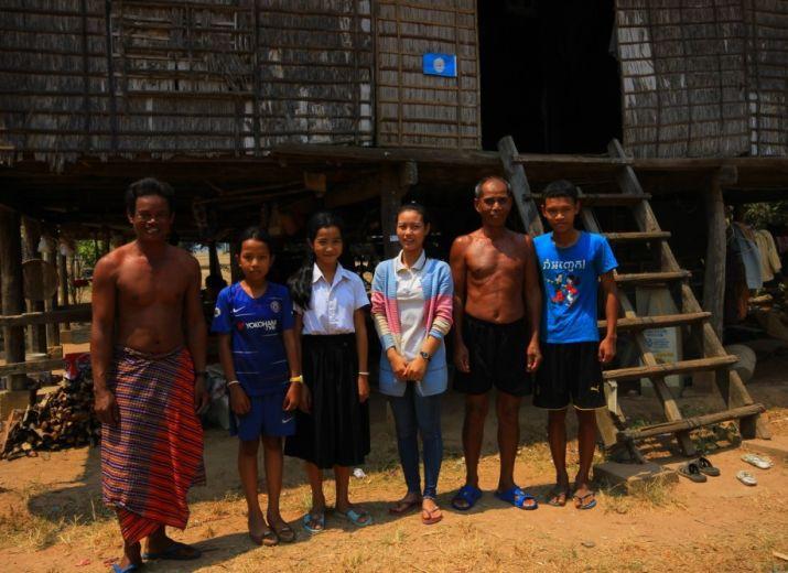 Aider une famille Cambodgienne
