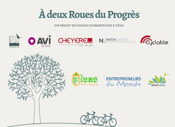 """""""À deux Roues du Progrès"""" voyage à vélo humanitaire - pour nos partenaires"""