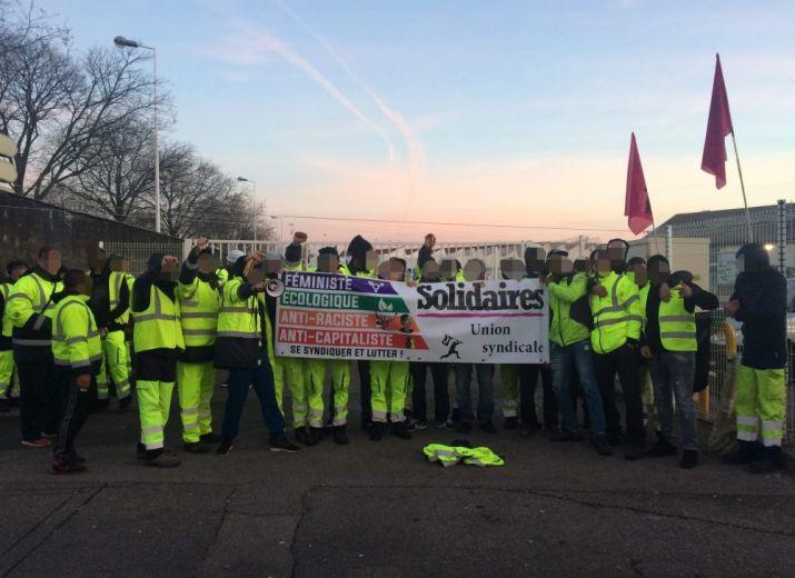 Grève à Pizzorno Vénissieux