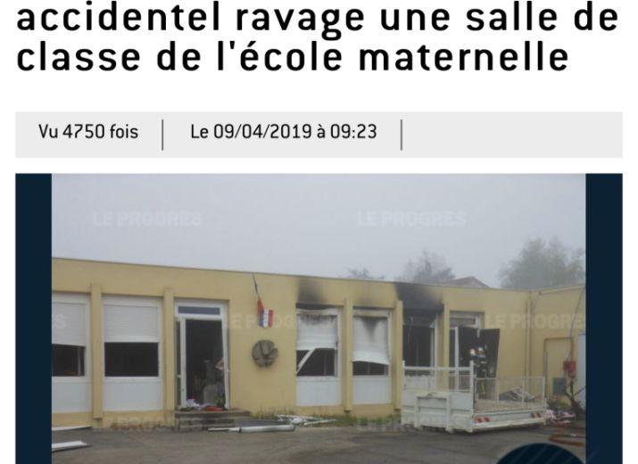 Incendie école maternelle Villars
