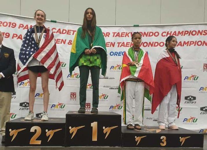 Jeanou aux championnats panaméricains et aux championnats du monde cadet de taekwondo