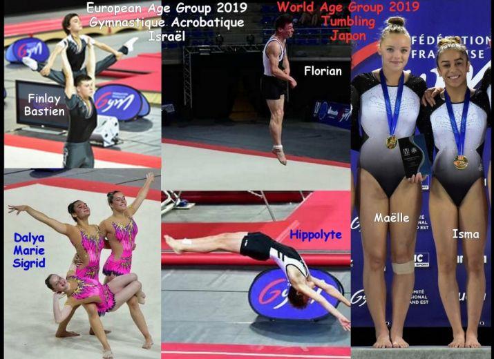 Championnat d'Europe jeunes 2019 Gym Acro (Israel) - Championnat du Monde jeunes 2019 Tumbling (Japon)