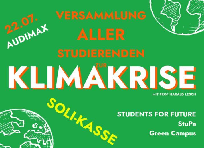 Versammlung aller Studierenden der Uni Bayreuth zur Klimakrise