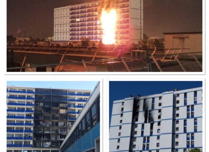 Incendie logement Henri Mondor