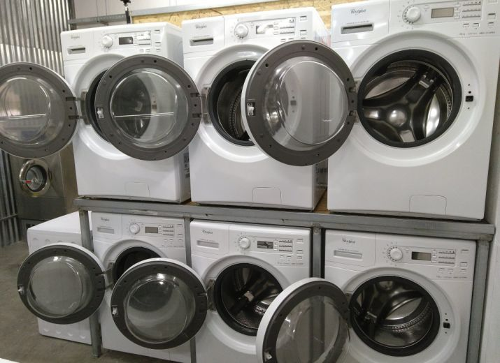Wäscherei für Geflüchtete in Moria, Lesvos