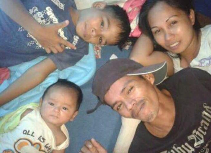 Philippinische Familie ohne Vater