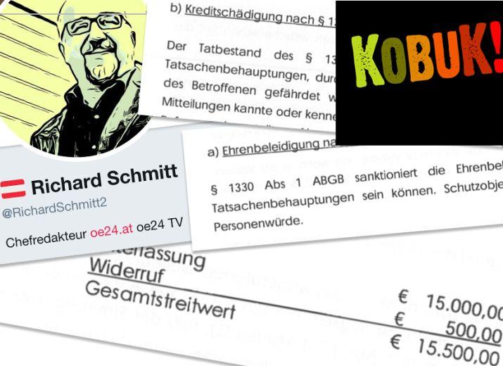 Kobuk: Rechtshilfefonds gegen Einschüchterung durch Richard Schmitt