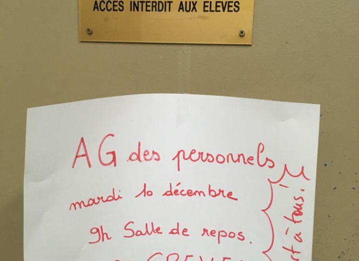 Caisse de grève du lycée Jean Moulin de ROUBAIX