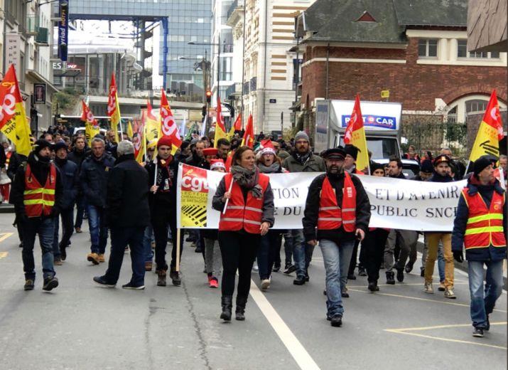 solidarité CGT cheminots grévistes de Rennes