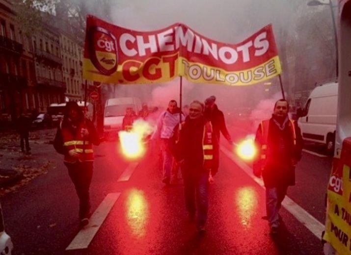 Soutien aux Cheminots Grévistes de la CGT Cheminots de Toulouse