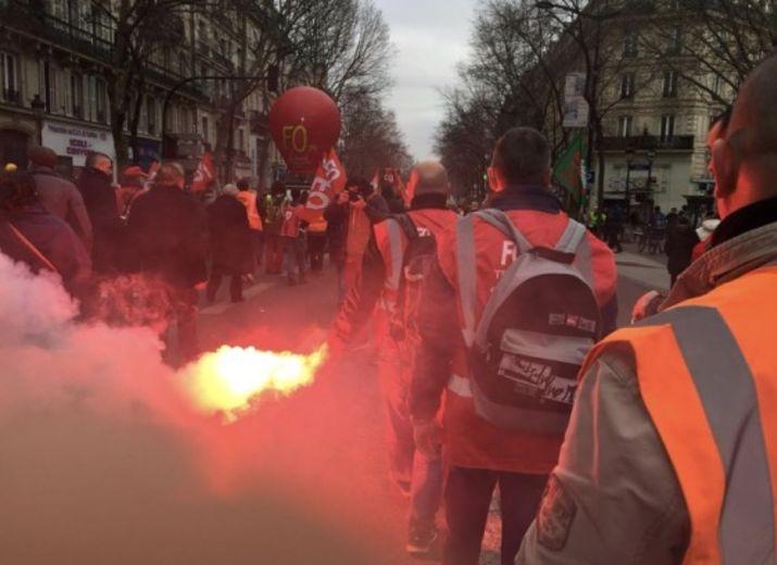 Collecte de soutien aux salariés en grève ouverte par Force Ouvrière.
