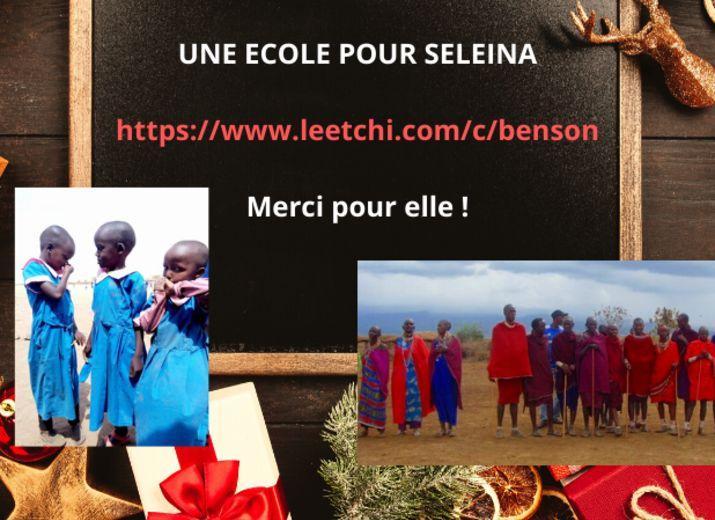 Une petite fille à l'école au Kenya (Maasai)