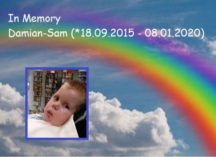 Spenden für Damian-Sam's Beerdigung
