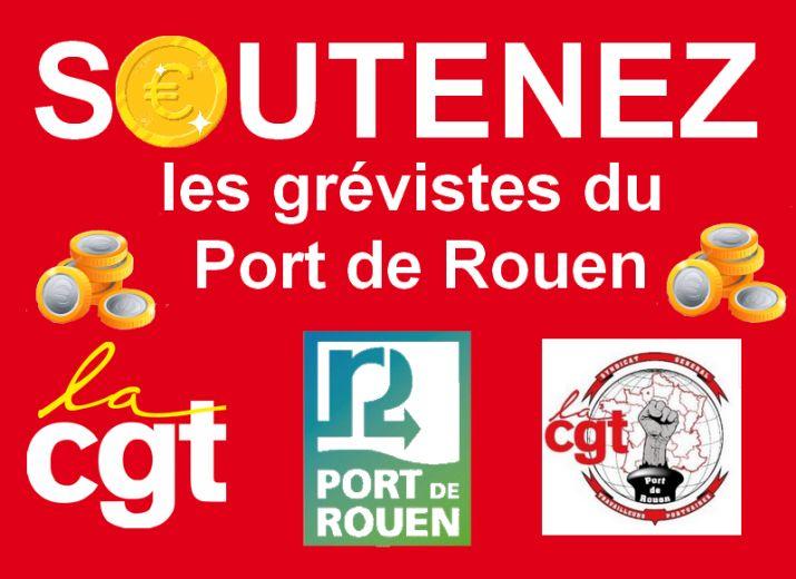 Solidarité pour les grévistes du Grand Port Maritime de Rouen