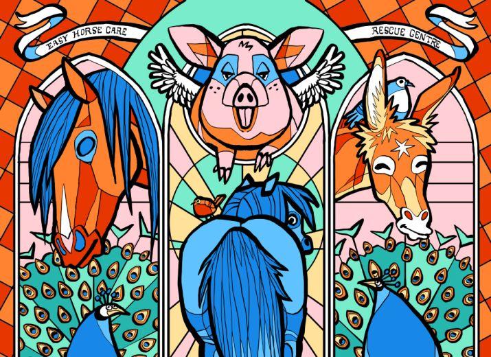 Financez une fresque au refuge Easy Horse Care Rescue Centre !