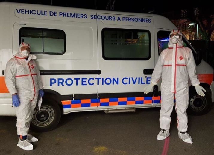 COVID-19 protection civile Essonne
