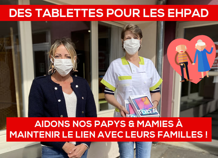 Des tablettes pour nos Ehpad