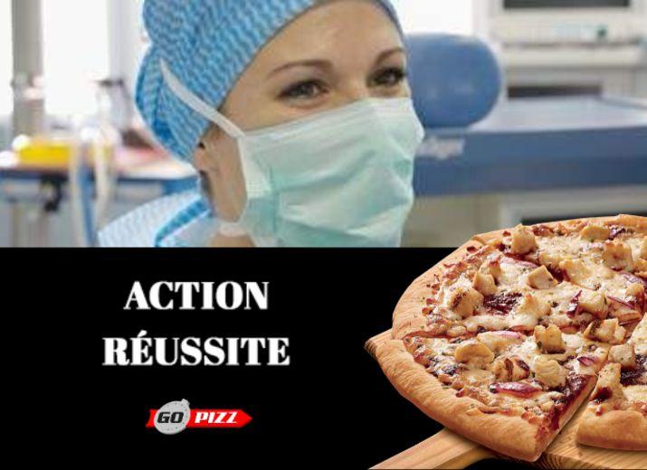 Offrons des Pizzas en soutien aux  personnel du svc public