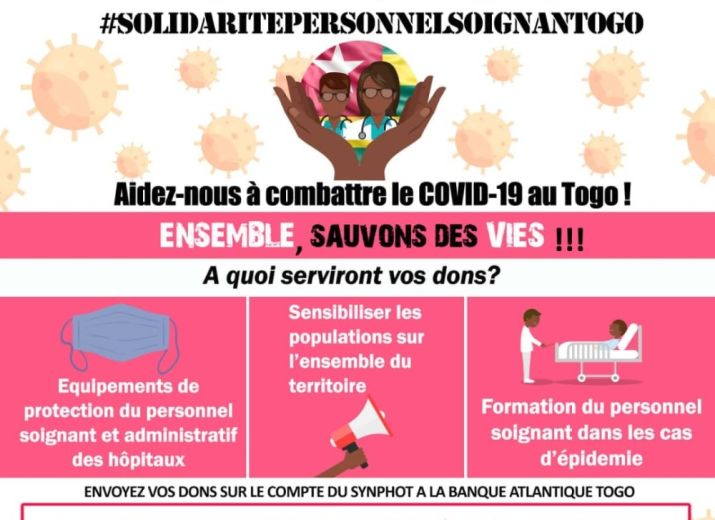 COVID-19 - Solidarité avec le personnel soignant du Togo