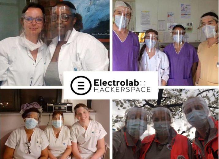 Visières COVID19 par Electrolab