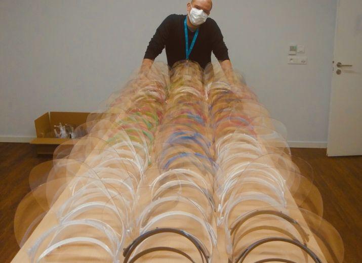 Covid 19 - #Boucliers Fablab collectif de bénévoles - Fabrication 3D (Visières et adaptateurs pour masques Decathlon)