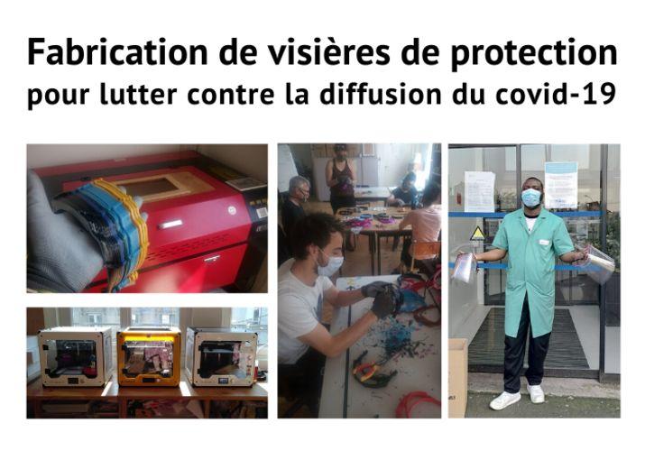 Fabrication de visières de protection contre le Covid-19 // Coopérative Pointcarré