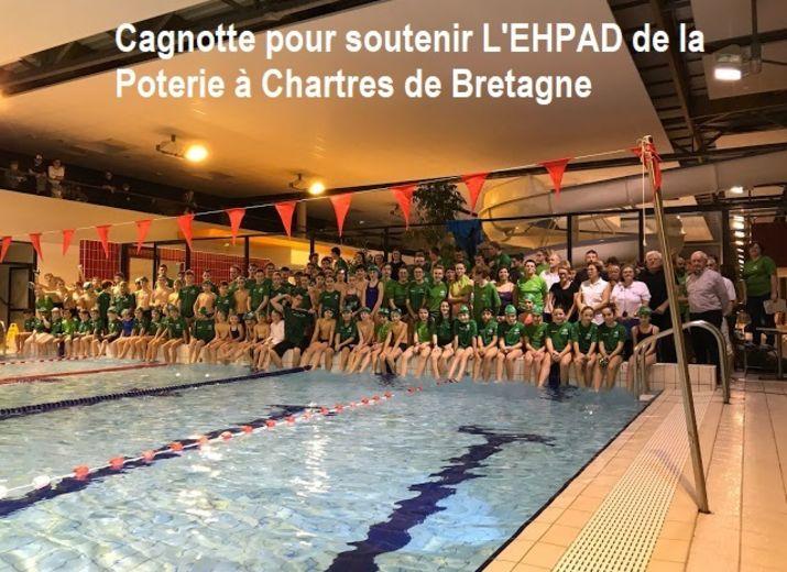 ECN NATATION SOLIDAIRE POUR SOUTENIR L'EHPAD DE LA POTERIE A CHARTRES DE BRETAGNE