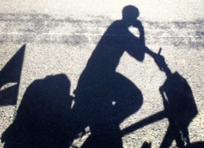 recycle biker