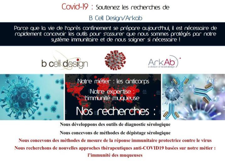 Covid-19 : B Cell Design/Arkab développe des outils de diagnostic et recherche un traitement